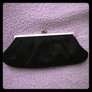 Handbags - Black Evening Purse 10x4 w/ optional beaded strap